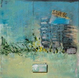 ציור שמן על בד אורבניי תל אביב אומנות מודרנית