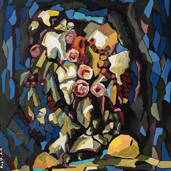 ציור שמן על בד פיגורטיבי דומם אומנות מודרנית