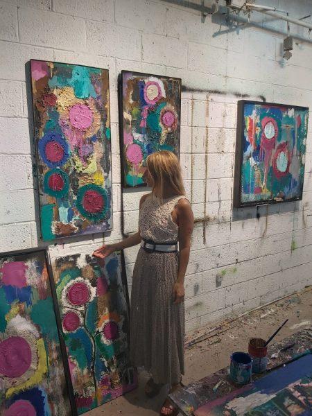 חגית ארגמן צילום סטודיו חמניות ביקור בסטודיו של אמנים